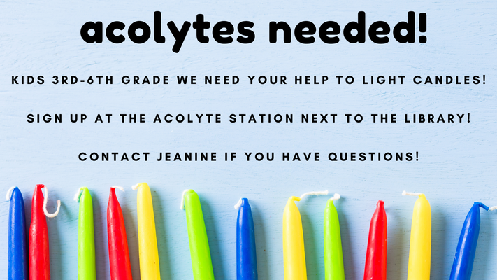Acolytes Needed!