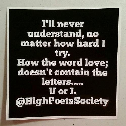 Poem Decals