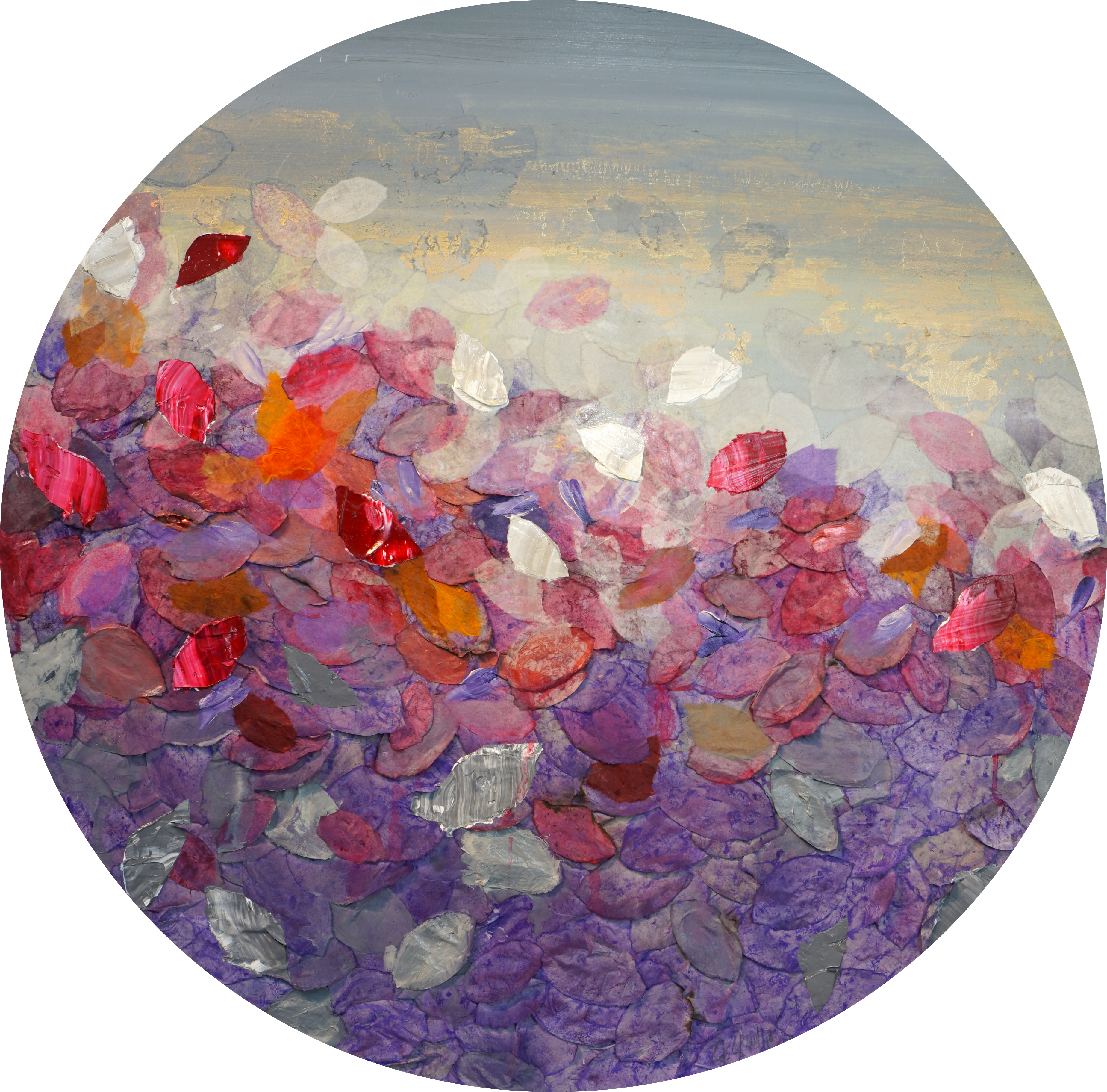 Bloom_Acryl,Öl,China_Reispapier_auf_Lein