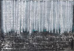 Petra Hedwig ohne Titel No. 76 100x70 cm Acryl auf Leinwand verkleinert
