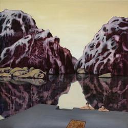366.Violette Berge, 100x100, 2010