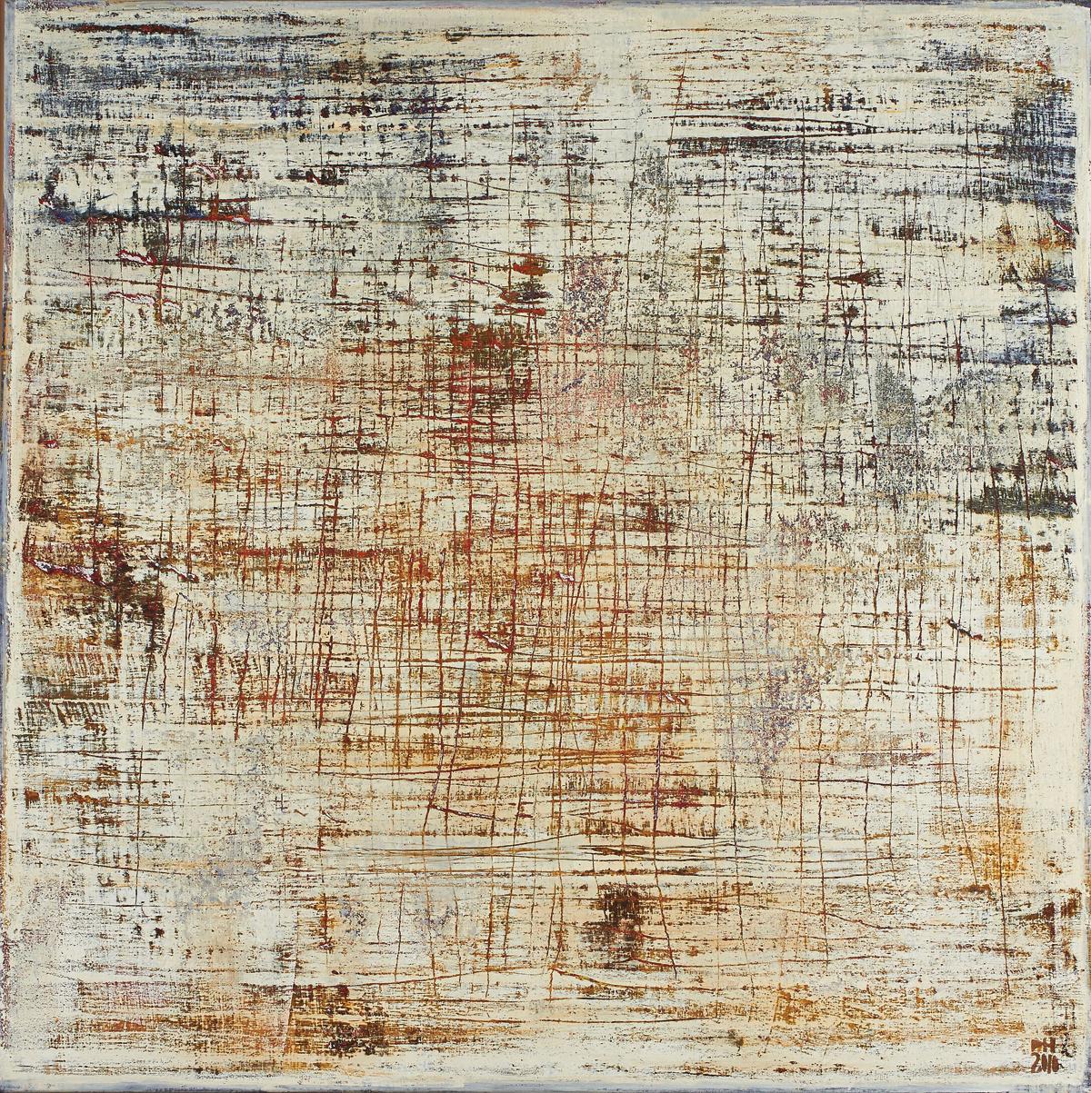 Petra Hedwig ohne Titel No. 17 100x100 cm Acryl auf Leinwand verkleinert