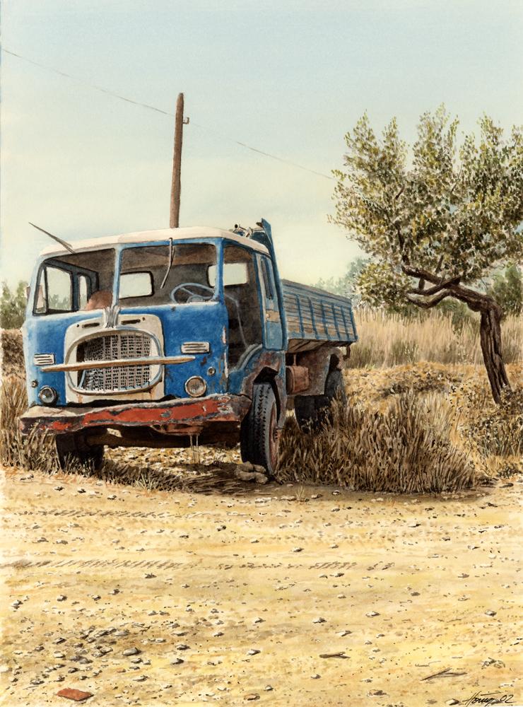 Blauer Fiattruck