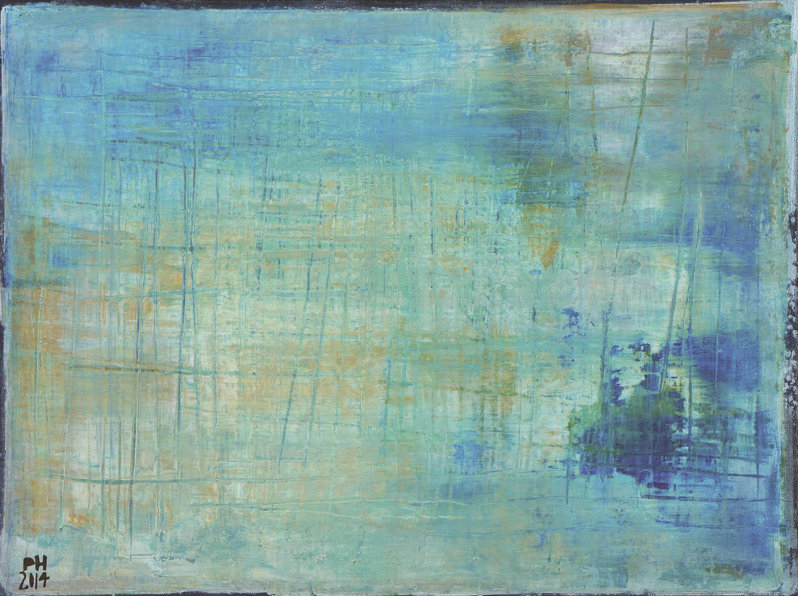 Petra Hedwig ohne Titel No. 53 80x60 cm Acryl auf Leinwand verkleinert
