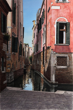 Venedig-Canale_68x45cm_Aquarell_2014_Hoenig