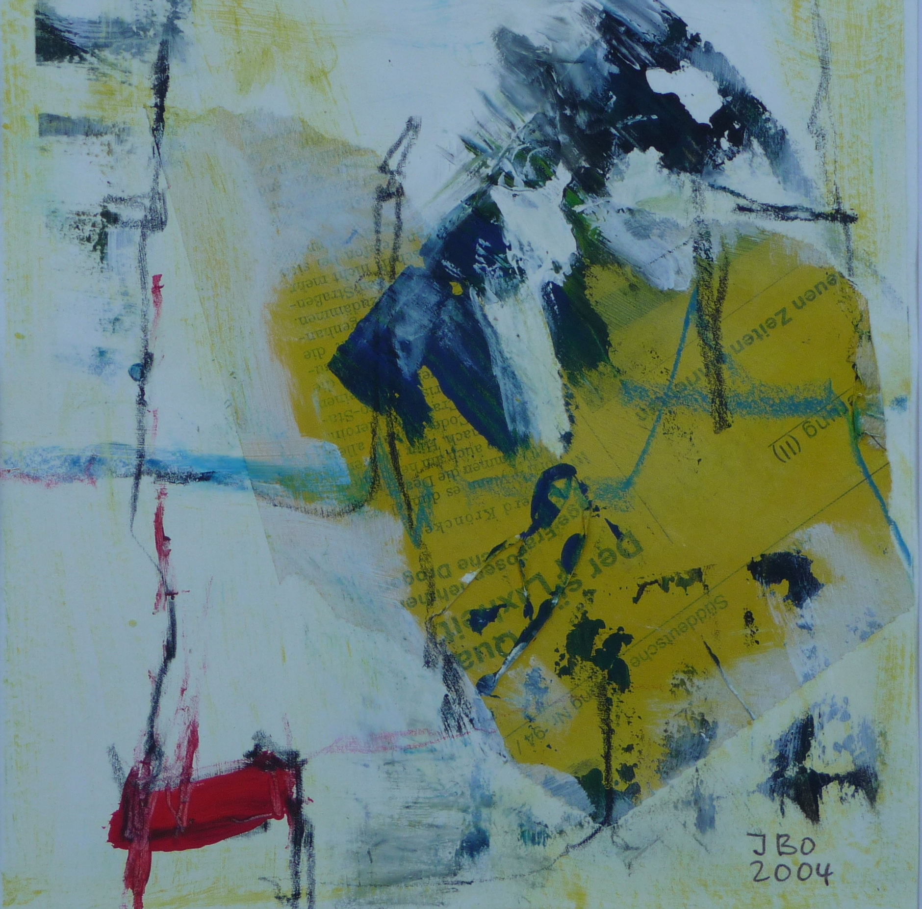 Spuren 1, 2004, Papier, 19x19