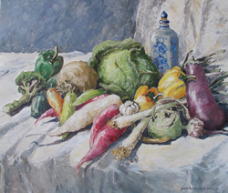 Gemüsestillleben_2__50X60_Öl