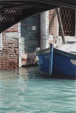 Venedig_Blue Boat_Hoenig_73x49cm_Aquarell_2015