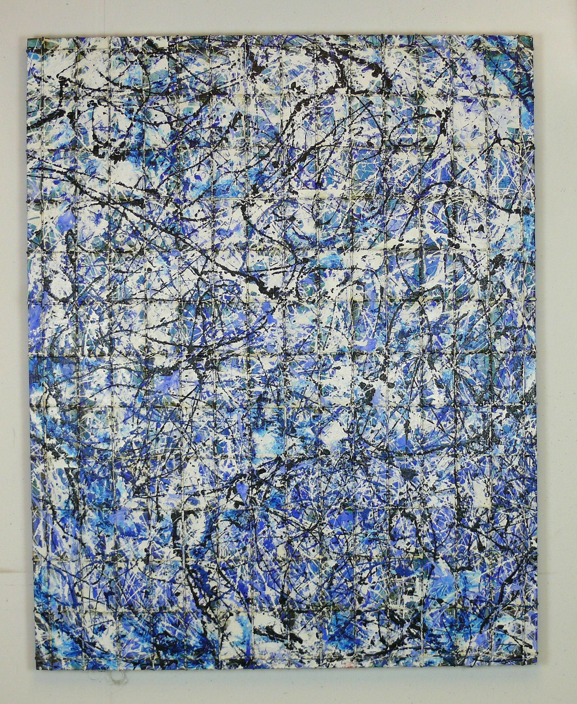 under conctruction just blue 150 x 120 cm