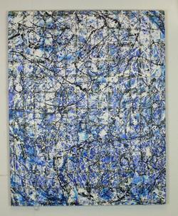 under conctruction just blue 150 x 120 cm