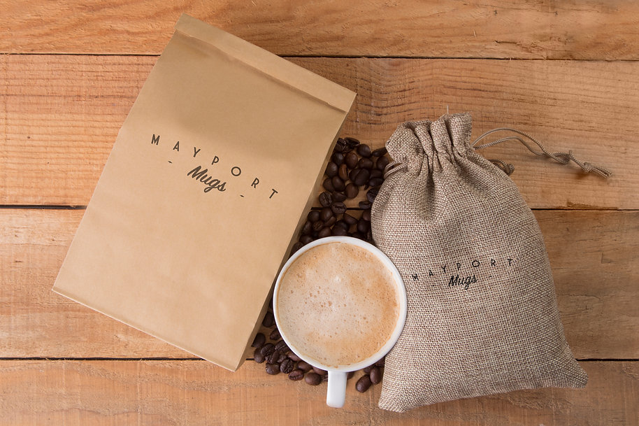 Mayport Mugs Coffee bags mockup 1 bare a