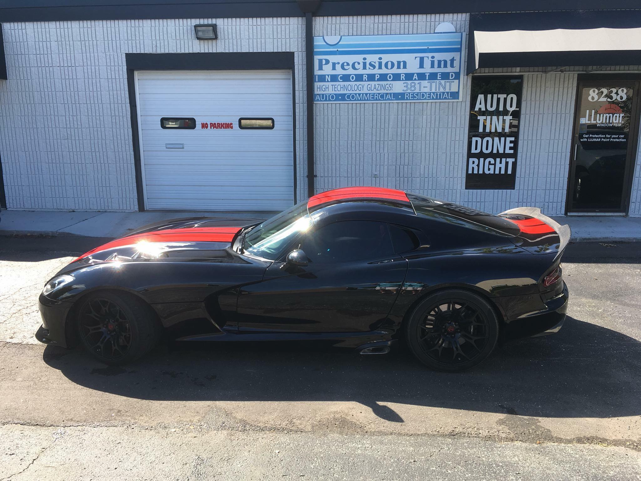 precision tint automotive window tinting kansas city dodge viper