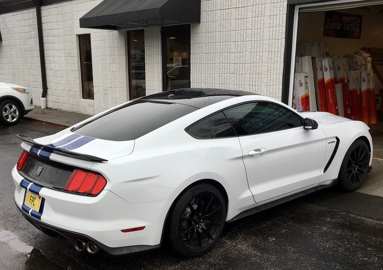 Precision tint car window Tinting kansas city ford shelby mustang