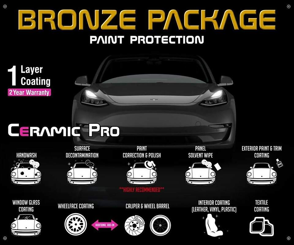 Precision Tint Ceramic Coatings Ceramic Pro bronze package Photo
