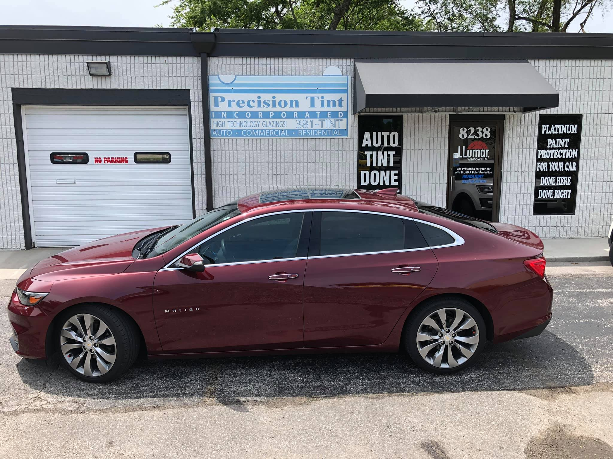 precision tint automotive window tinting kansas city chevy malibu