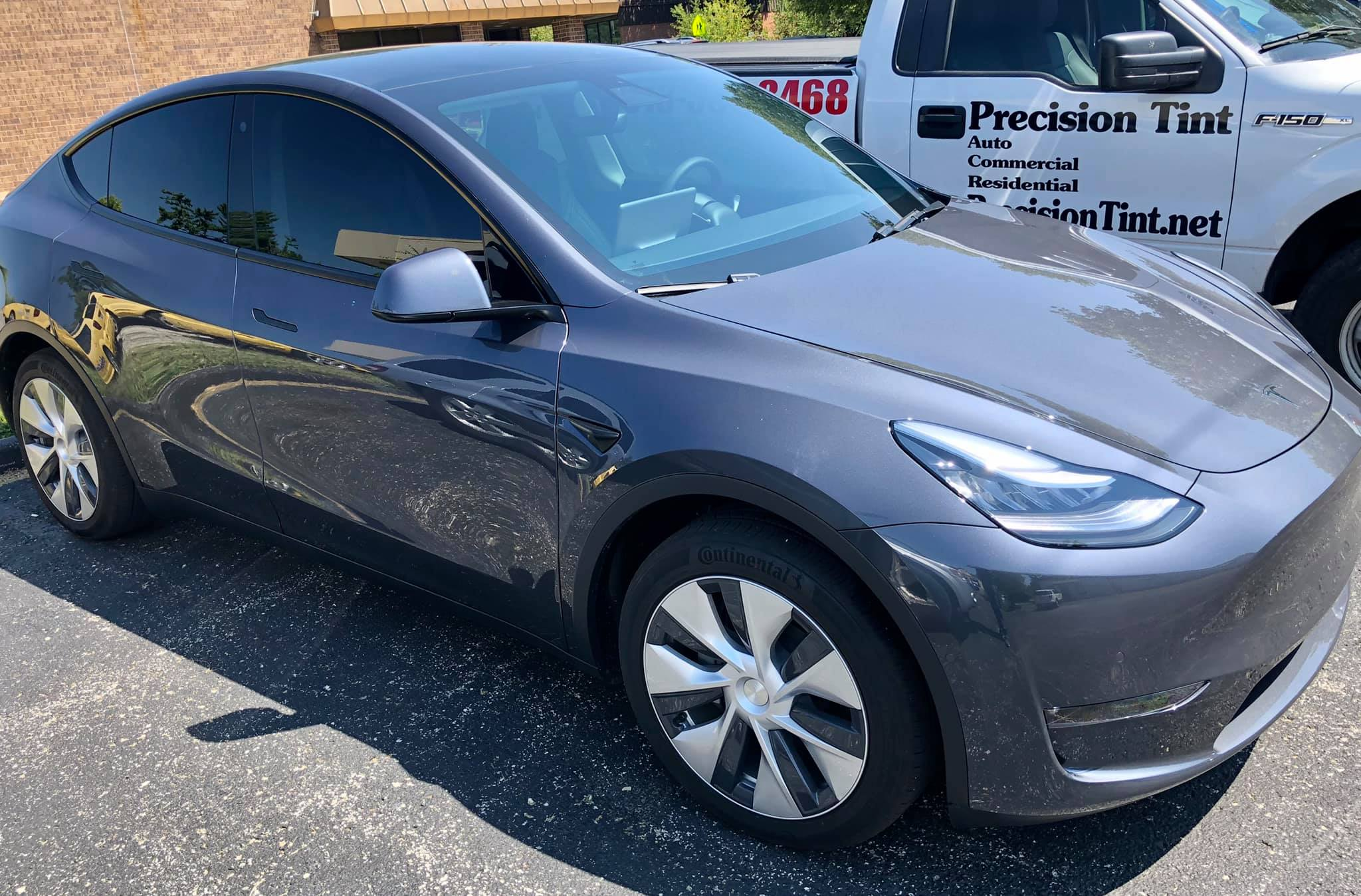 precision tint vehicle window tinting kansas city tesla model y