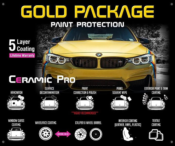 Precision Tint Ceramic Coatings Ceramic Pro gold package Photo