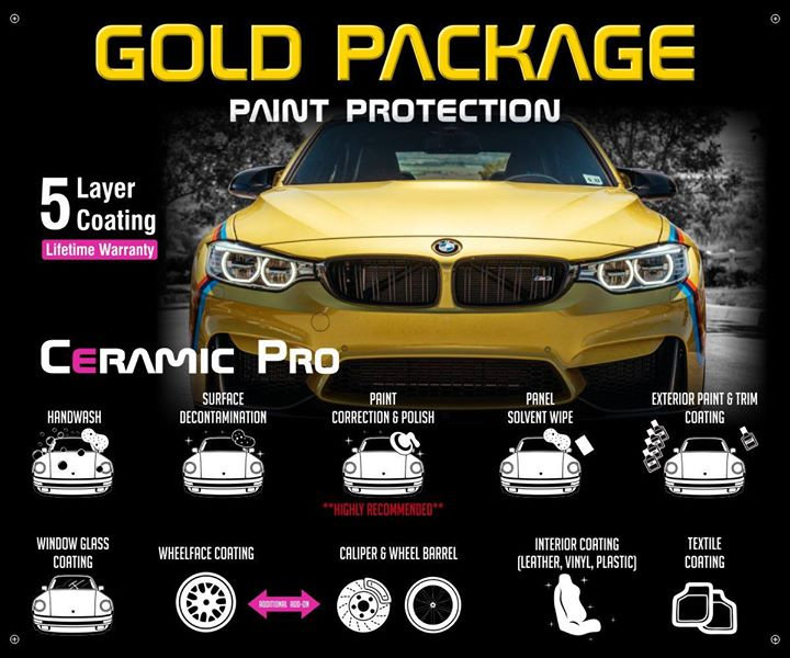 Precision Tint Ceramic Coatings Ceramic Pro gold package Photo