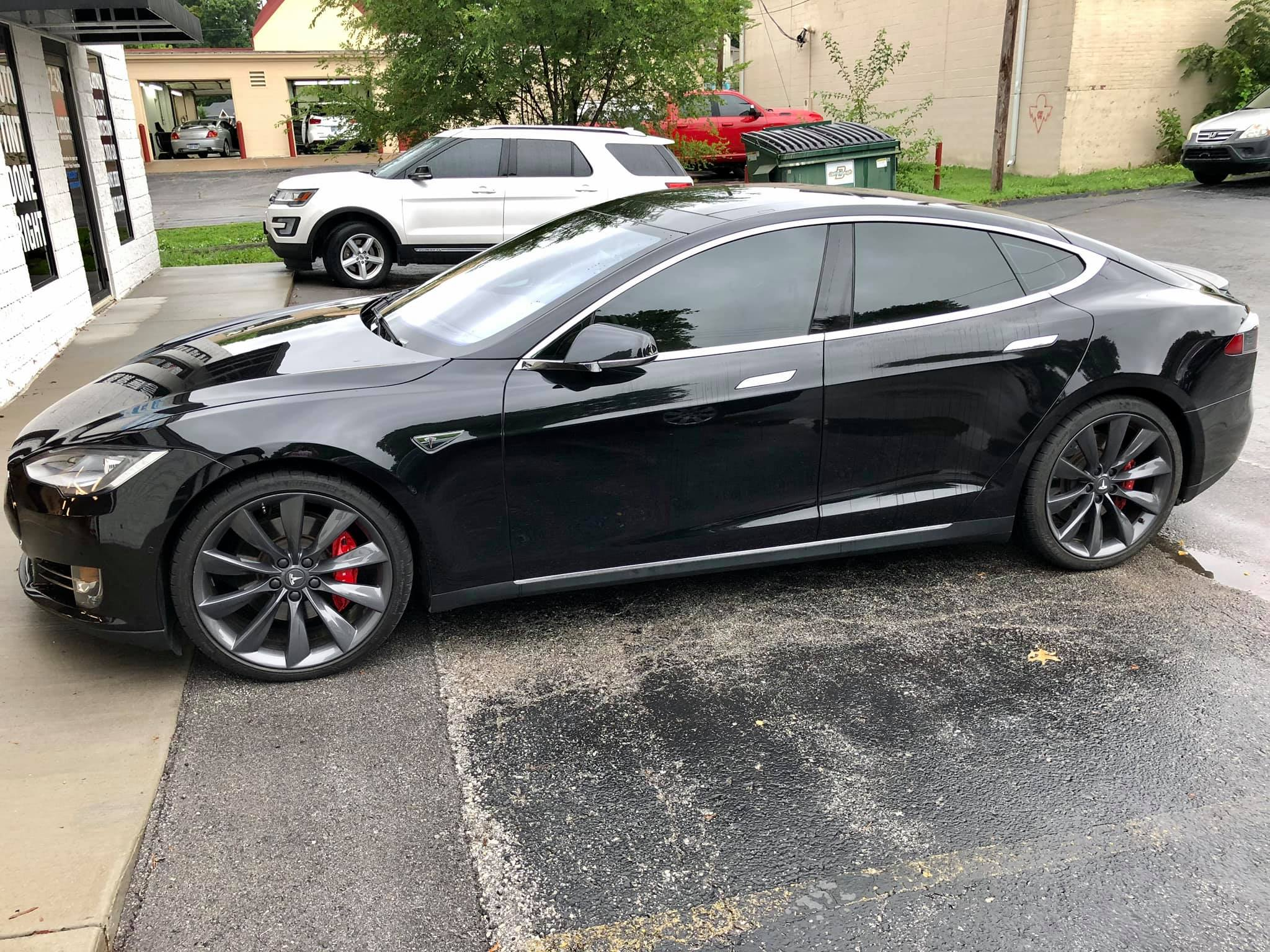 precision tint automotive window tinting kansas city tesla