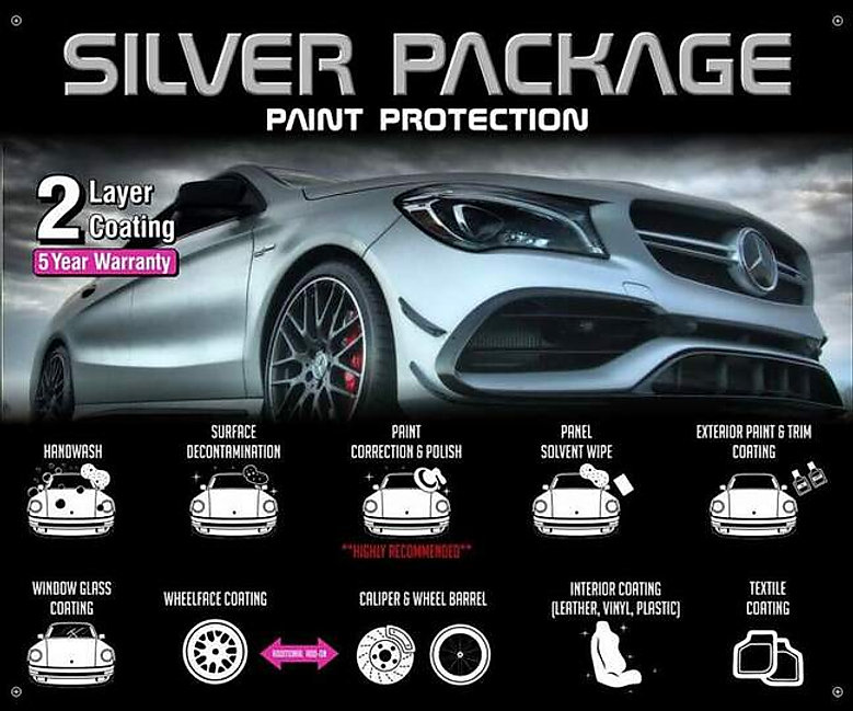 Precision Tint Ceramic Coatings Ceramic Pro silver package Photo
