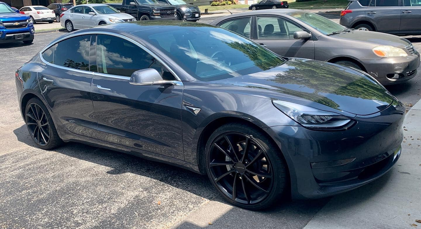 precision tint automotive window tinting kansas city tesla model 3