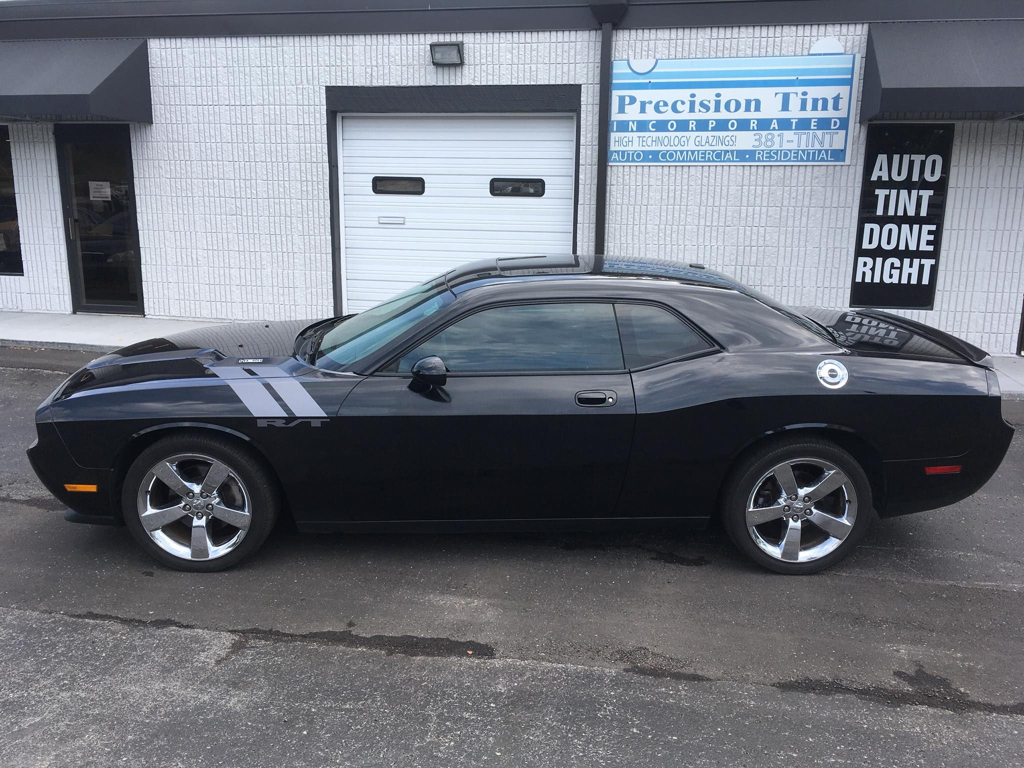 precision tint automotive window tinting kansas city dodge challenger
