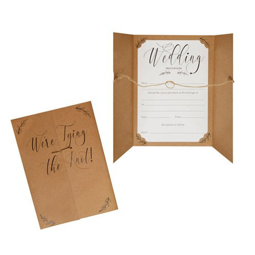 DIY 'We're Tying TheKnot' Wedding Invitation (Pack of 10)