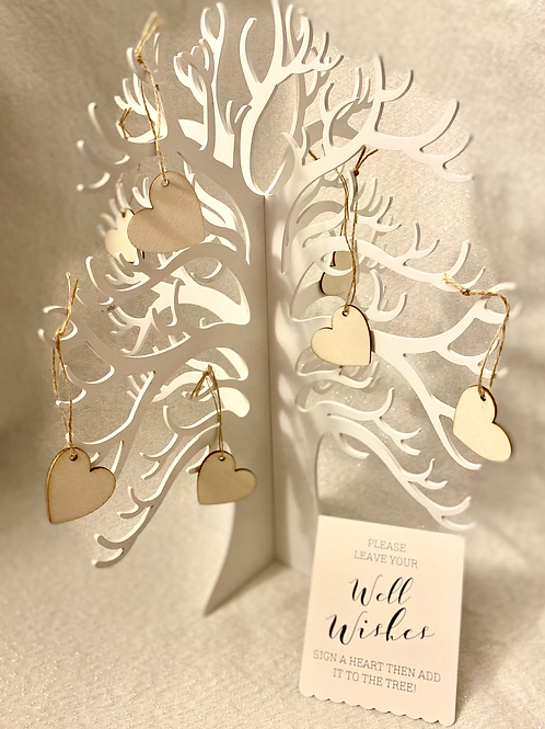 Wooden Guest Book Tree