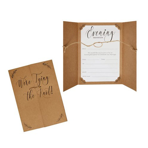 DIY 'We're Tying The Knot' Evening Invitation (Pack of 10)