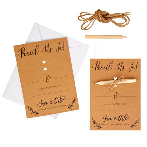 DIY Save The Date Cards (Pack of 10)
