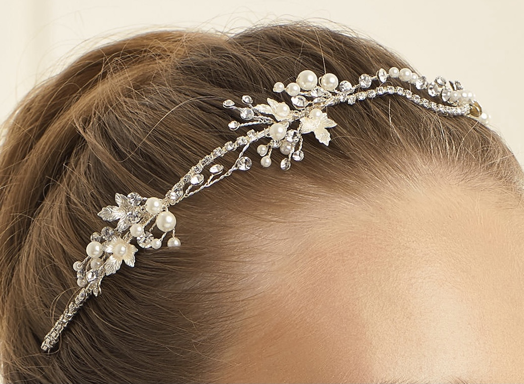 d45 Pearl & Sparkle Hair vine