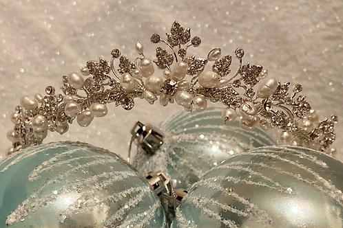 Pearl Diamanté Princess Tiara