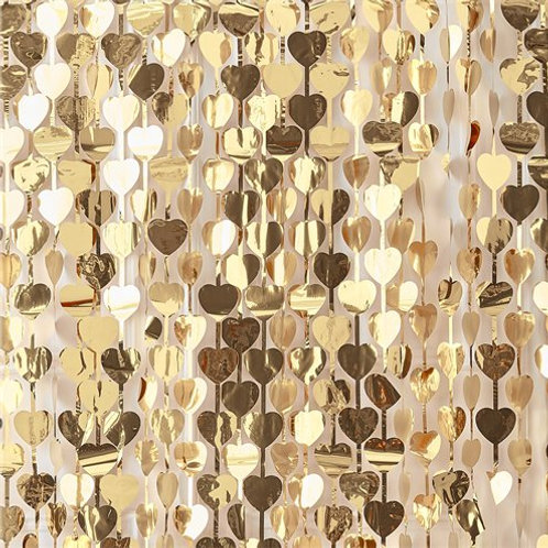Gold Heart Backdrop