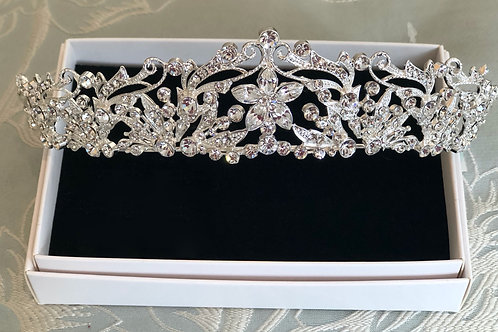 Large Diamanté Princess Tiara