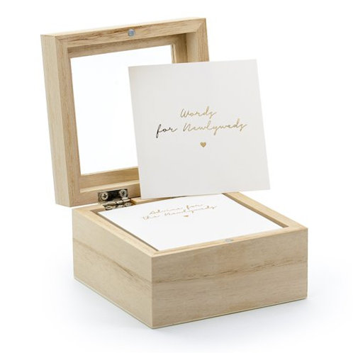 'Advise For The Newlyweds' Cards & Wooden Box