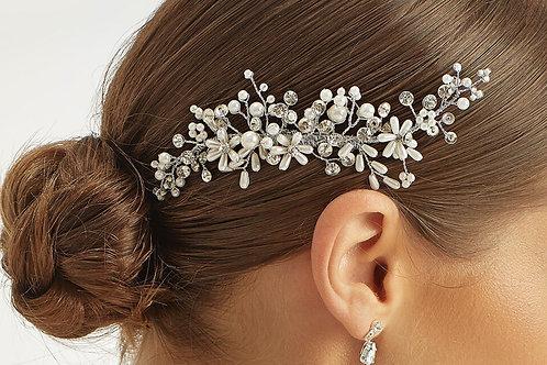 Pearl & Crystal Flower Headpiece