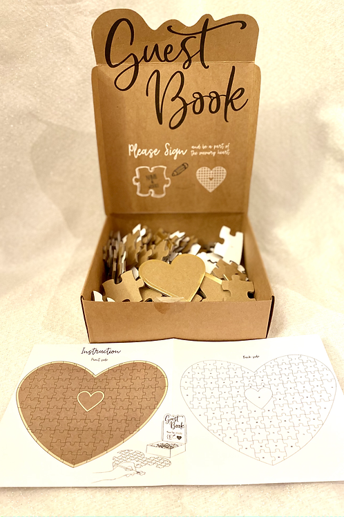Heart Puzzle Guest Book