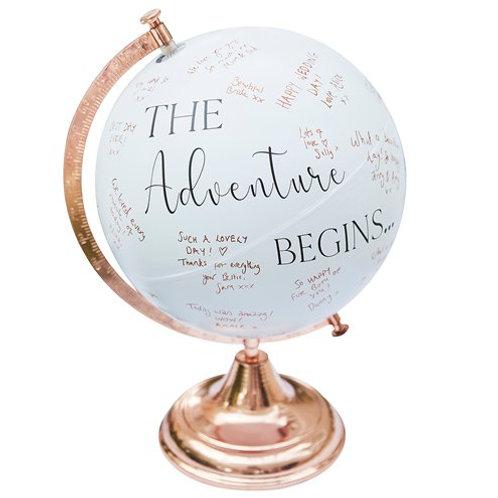Wedding Guest Book Globe