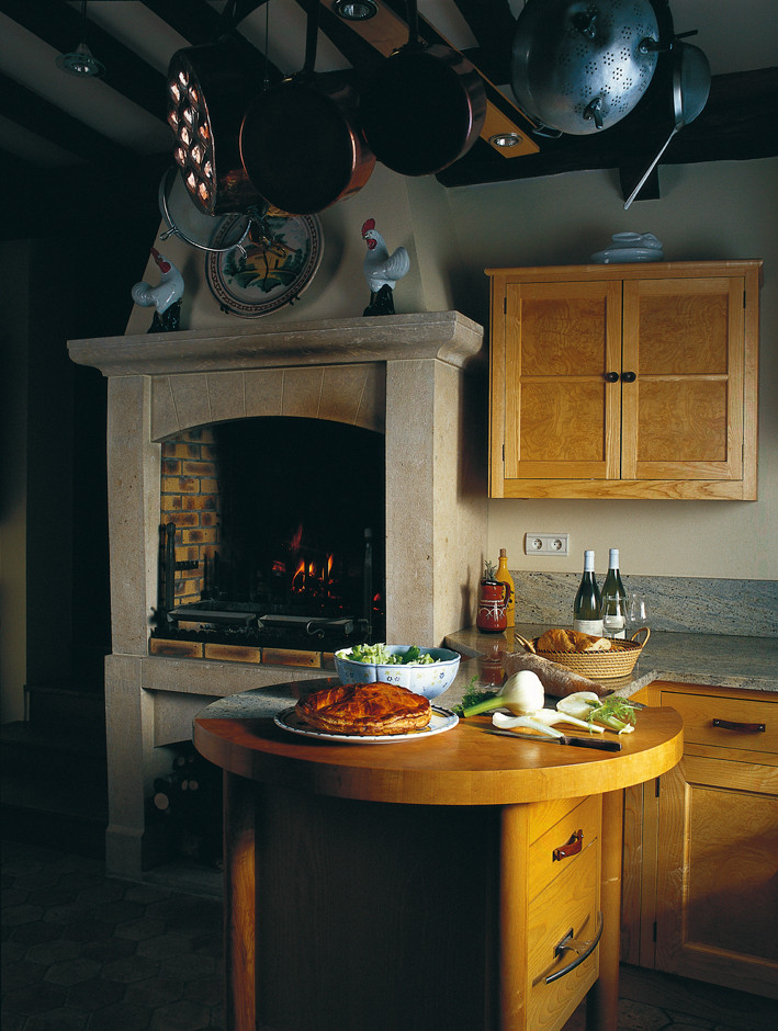 open hearth in the kitchen