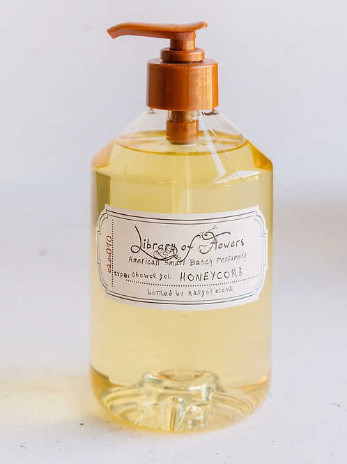 HONEYCOMB   SHOWER GEL   LIBRARY OF FLOWERS