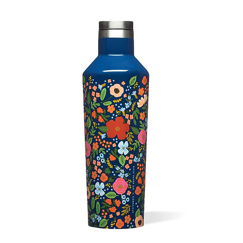 NAVY WILD ROSE | CANTEEN | CORKCICLE x RIFLE PAPER CO.