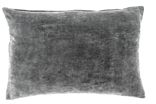 VERA VELVET PILLOW | STEEL GRAY