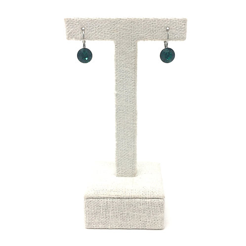 EMERALD, PETITE FRENCH HOOKS - PEES