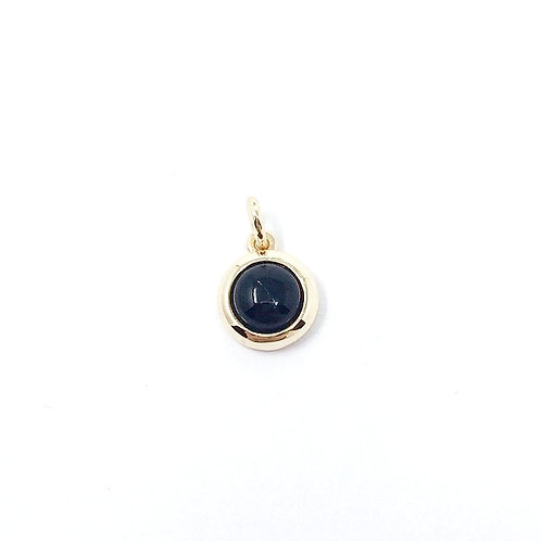 *BRASS BASE* ONYX CHARM | DISCONTINUED ADORNED | MELANIE AULD
