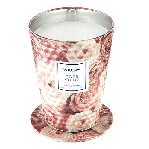 ROSE OTTO | TWO WICK TABLE TIN CANDLE | VOLUSPA