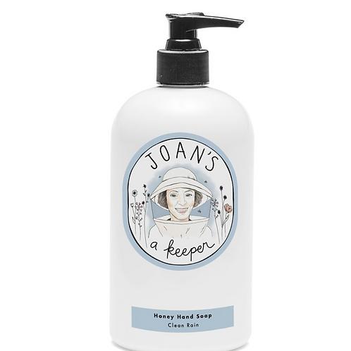 CLEAN RAIN | HONEY HAND SOAP | JOAN'S A KEEPER