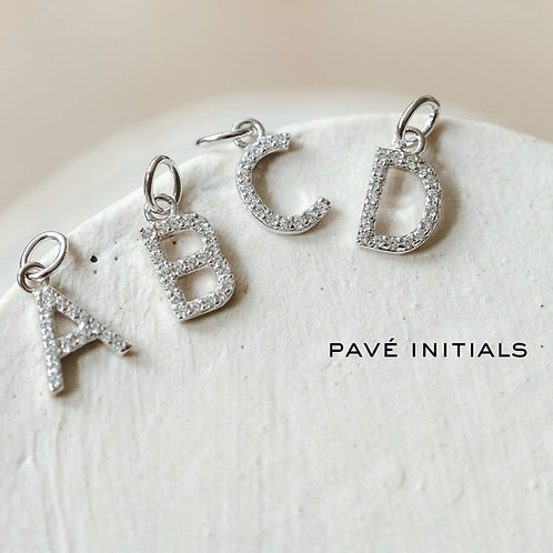 ADORNED PAVE INITIAL | STERLING SILVER | MELANIE AULD