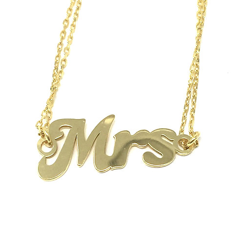 """MRS"" SCRIPT, BRACELET - HOUSE OF MODA"