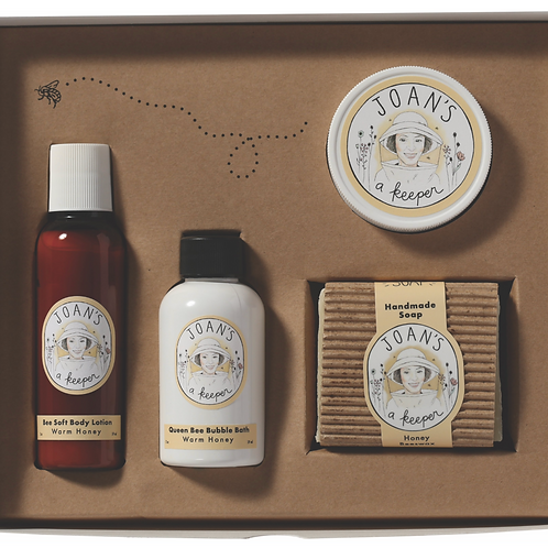 WARM HONEY | BEE PAMPERED GIFT SET  | JOAN'S A KEEPER