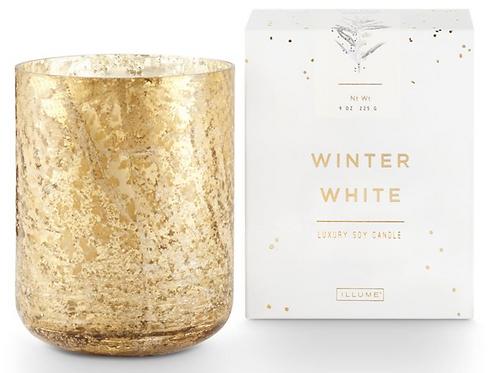 LUXE MERCURY GLASS CANDLE | WINTER WHITE  | ILLUME